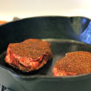 Coffee Rubbed Steak.