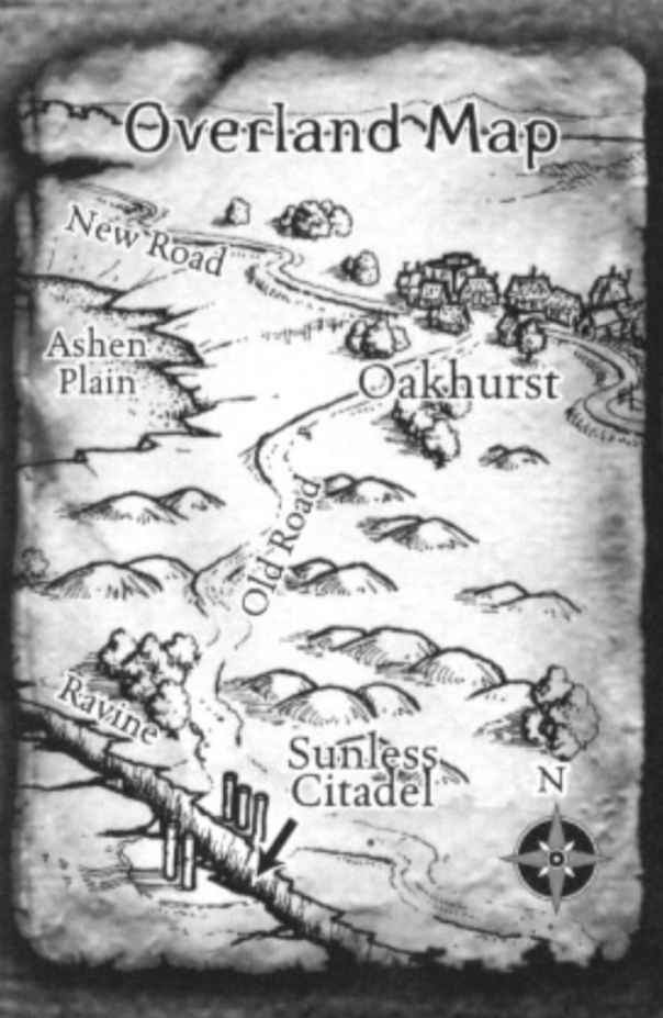 Map to Oakhurst/Sunless Citadel