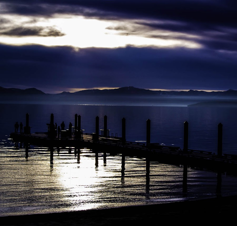 by Andrea Bundy - Landscapes Sunsets & Sunrises ( water, beaty, sunset, fall, beautiful, dock, lake tahoe )