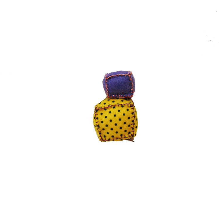 DOUBLE CUBE YELLOW PURPLE CLIP by STH Creative S/B