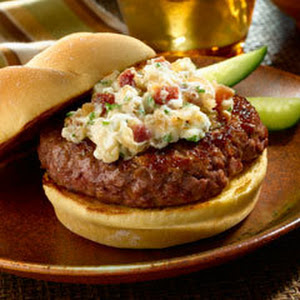 Creamy Blue Cheese 'n Bacon Topped Burgers