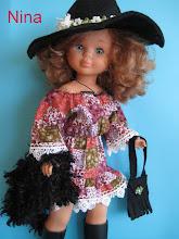 Photo: Vestido estilo hippy, con sombrero, chaleco tipo piel negro y bolso: 25 euros más envío