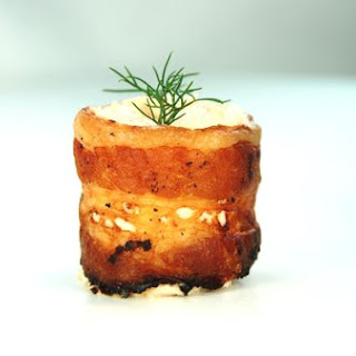 Crispy Bacon Cups With Smoked Salmon Mousse