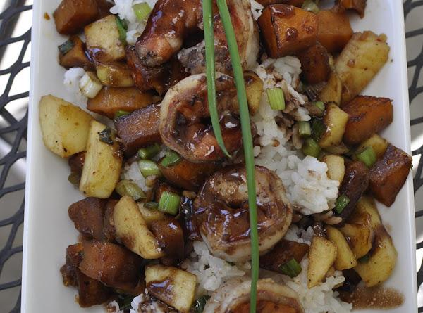 Fall Happiness Balsamic Shrimp & Rice Recipe