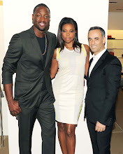 Photo: Dwayne Wade, Gabrielle Union, Francisco Costa