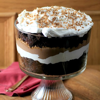Easy Chocolate Caramel Trifle.