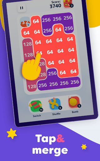 LAVA - Merge Number Blocks with 2048 game screenshot 11