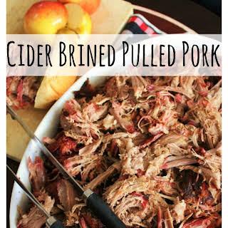 Cider Brined Pulled Pork.