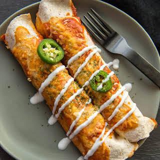 Vegetarian Enchiladas with Butternut Squash and Black Beans.