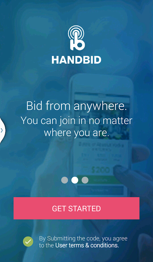 Handbid- screenshot