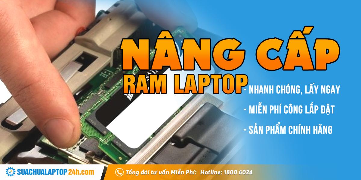 nâng cấp ram laptop