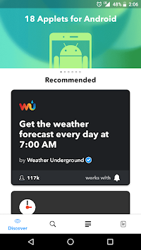 IFTTT APK screenshot thumbnail 3