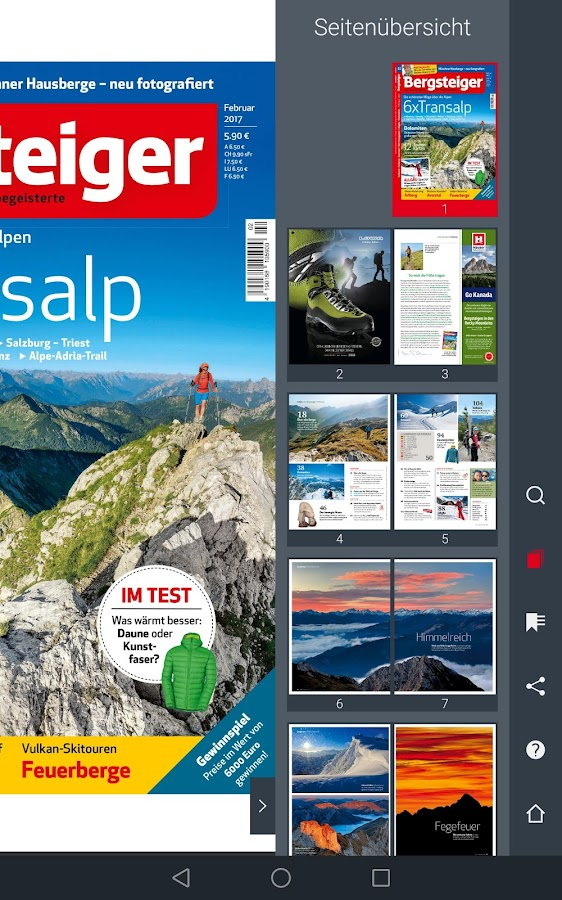 Bergsteiger. Das Tourenmagazin- screenshot