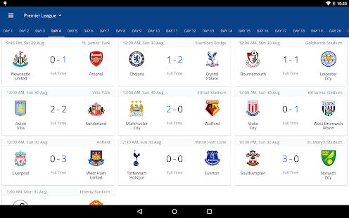 EPL Live: English Premier League scores and stats Screenshot