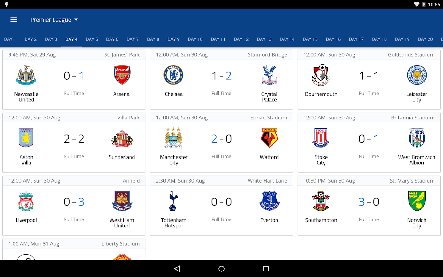 EPL 2016/2017- screenshot