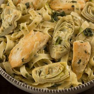 Chicken &Artichoke Spinach Pasta.
