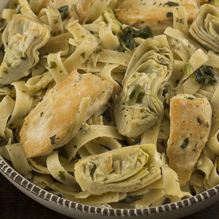 Chicken &Artichoke Spinach Pasta Recipe