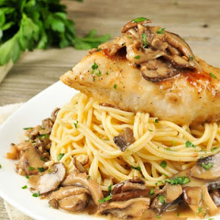 Chicken Marsala with buttery garlic mushroom sauce