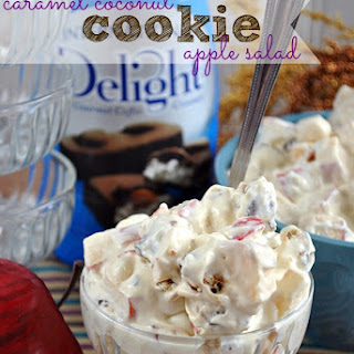 Caramel Delight Cookie Apple Salad with International Delight