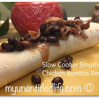 Smothered Chicken Burritos a yummy dinner made in the slow cooker.