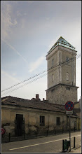 Photo: Str. Andrei Saguna la intersectie cu Str. David Ferenc - vedere Turnul Pompierilor de pe Str. Tipografiei - 2018.01.11