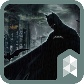 Dark City Hero Widgetpack Launcher theme