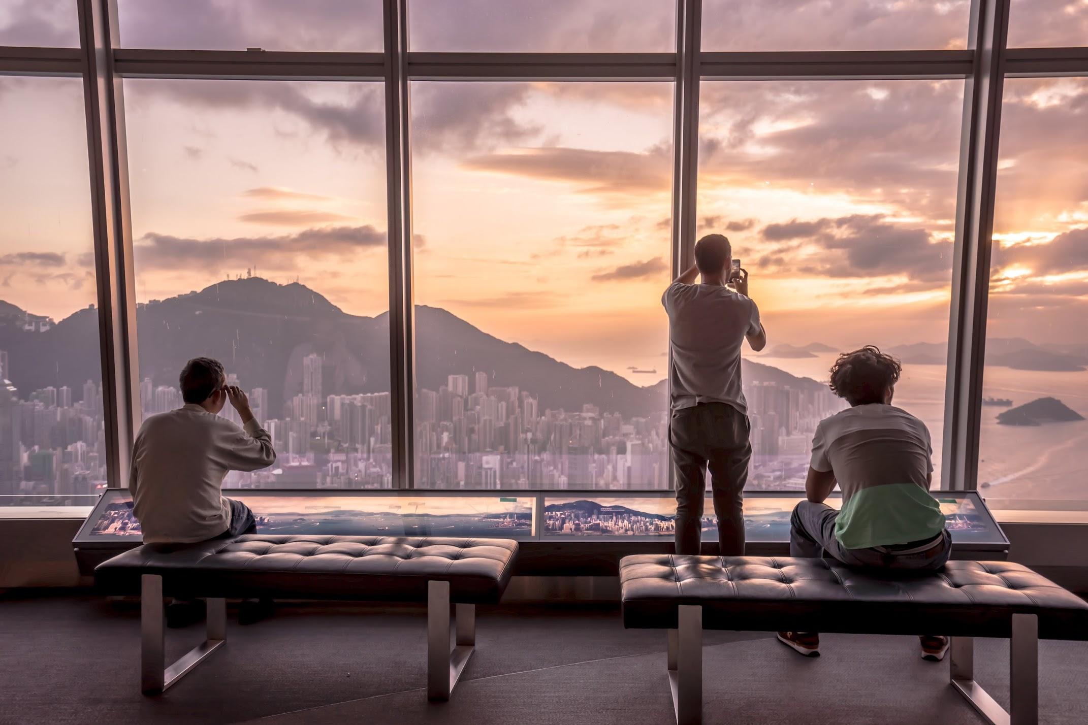 香港 スカイ100(sky100) 夕景3