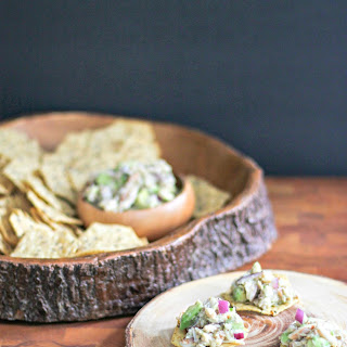 Goddess Crab and Avocado Salad on Multigrain Chips