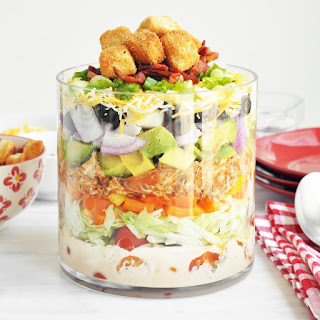 BBQ Chicken Layered Salad