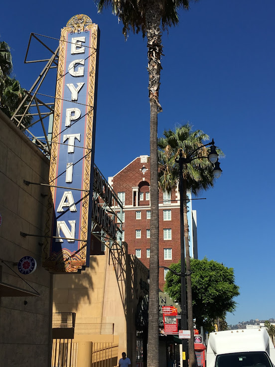 The sign in front of the Egyptian Theater.