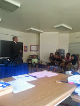 Photo: FBI Agent Greg Branch spoke to our students about careers in the FBI, and his career path