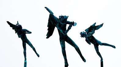 "Photo: Part of the statue ""The Five Musical Geniuses"" by Carl Milles"