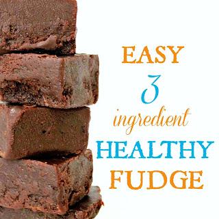 Easy 3 Ingredient Healthy Fudge