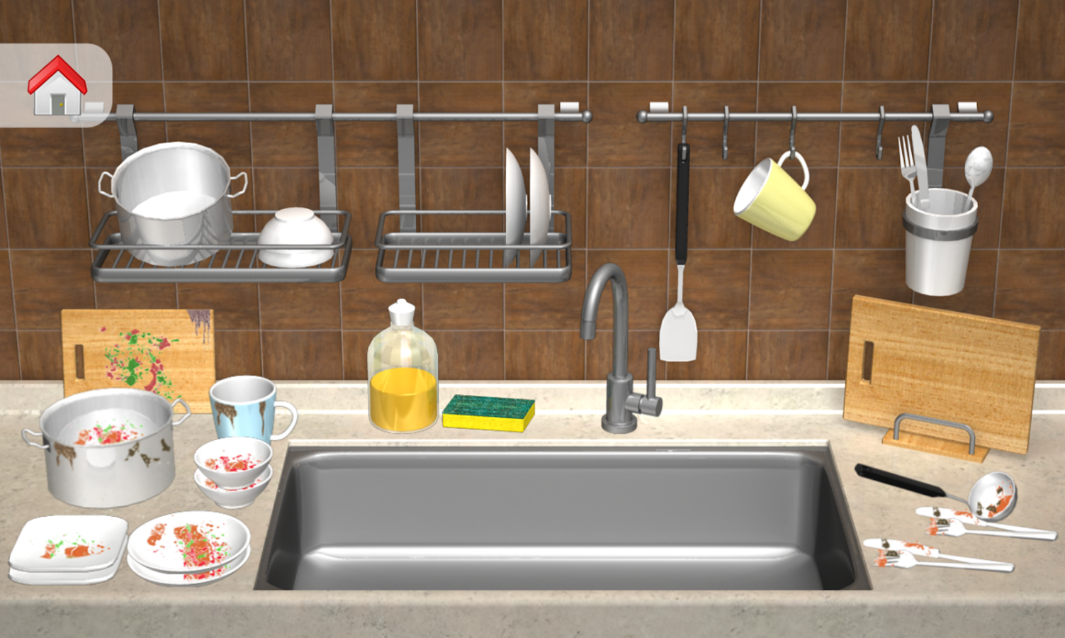 Clean up bathroom games - Cleaning Games Clean House Screenshot