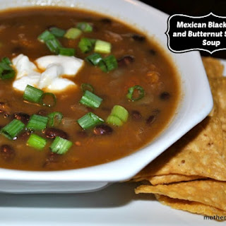 Mexican Black Bean and Butternut Squash Soup