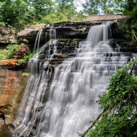 Brandywine Falls by Don Kuhnle - Landscapes Waterscapes ( forest, waterfall, ohio, water, landscape,  )