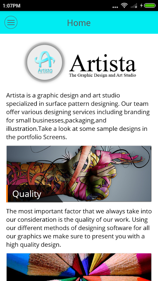 Artista : Graphics Design Shop- screenshot