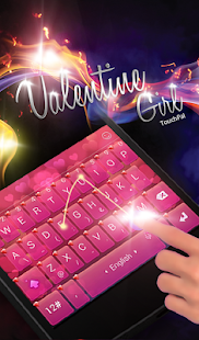 TouchPal Magic Love Girl Theme - náhled