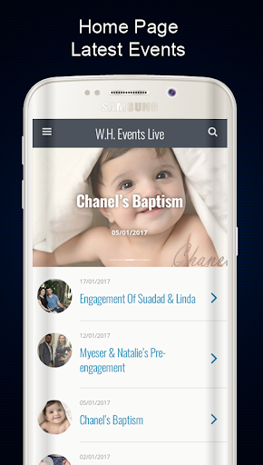 W.H. Events Live 1.9.0 screenshots 2