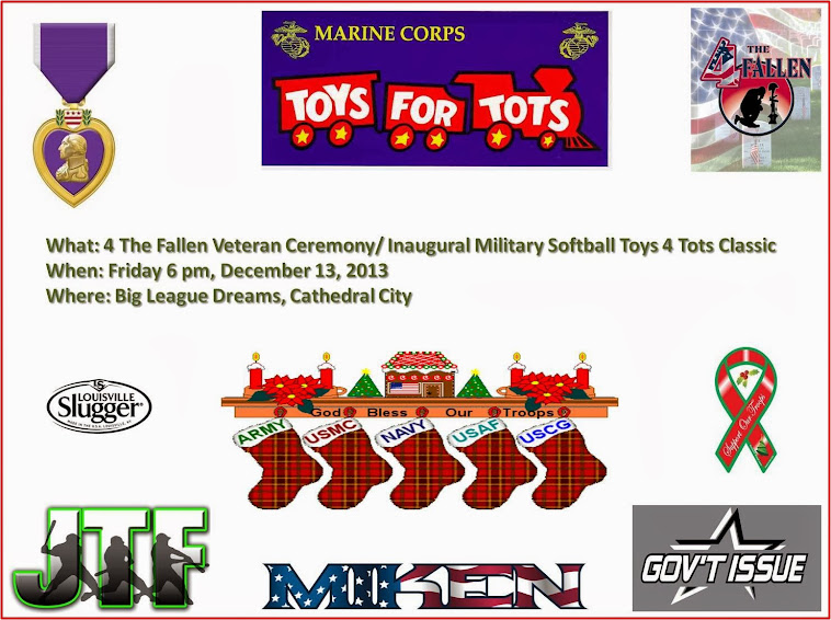 Toys For Tots 4 The Fallen Ceremony and Military Exhibition Game!