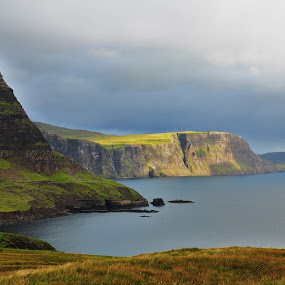 On the top! by My 1st Impressions - Landscapes Mountains & Hills ( impressions, skye, cliffs, nature, scotlands, green )