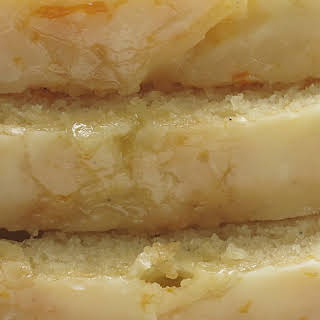 Vanilla Yogurt Cake with Orange Glaze.