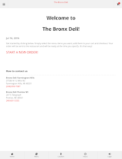 The Bronx Deli Online Ordering- screenshot thumbnail
