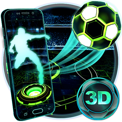 Neon Football Tech 3D Theme file APK for Gaming PC/PS3/PS4 Smart TV