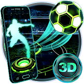 Neon Football Tech 3D Theme