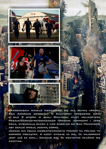 Tył ulotki filmu 'San Andreas'