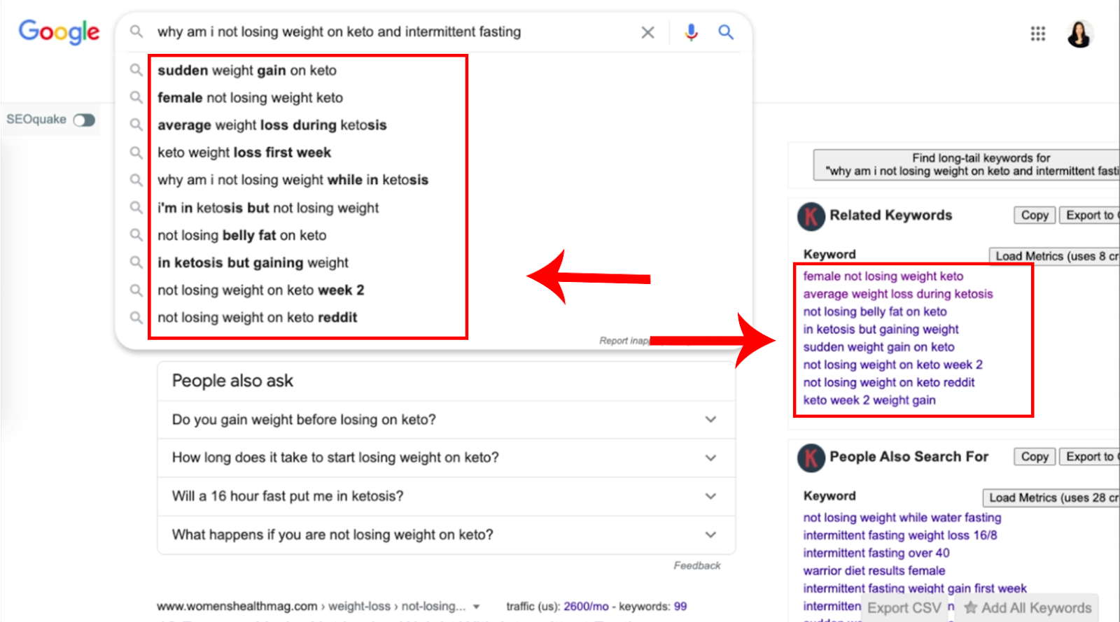 keywords everywhere and google auto suggest comparison