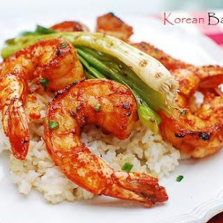 Gochujang Saewu Gui (Spicy Grilled Shrimp Skewers).