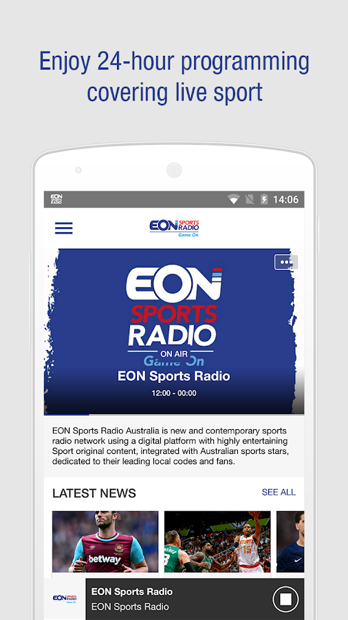 EON Sports Radio- screenshot