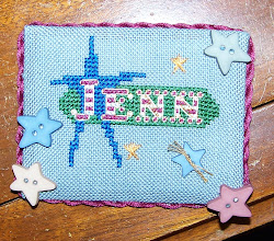 Photo: Completed 10 Jan 2010. Stitchers' Retreat Name Tag (2010) by Jenn Barber :-). Stitched using kit provided by A Stitcher's Garden.
